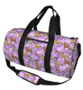 Purple Horse Print Duffle Bag by Broad Bay