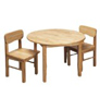 Gift Mark Round Children table, Natural