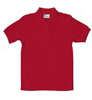 Toddler Unisex School Uniform Basic Red Jersey Polo Shirt